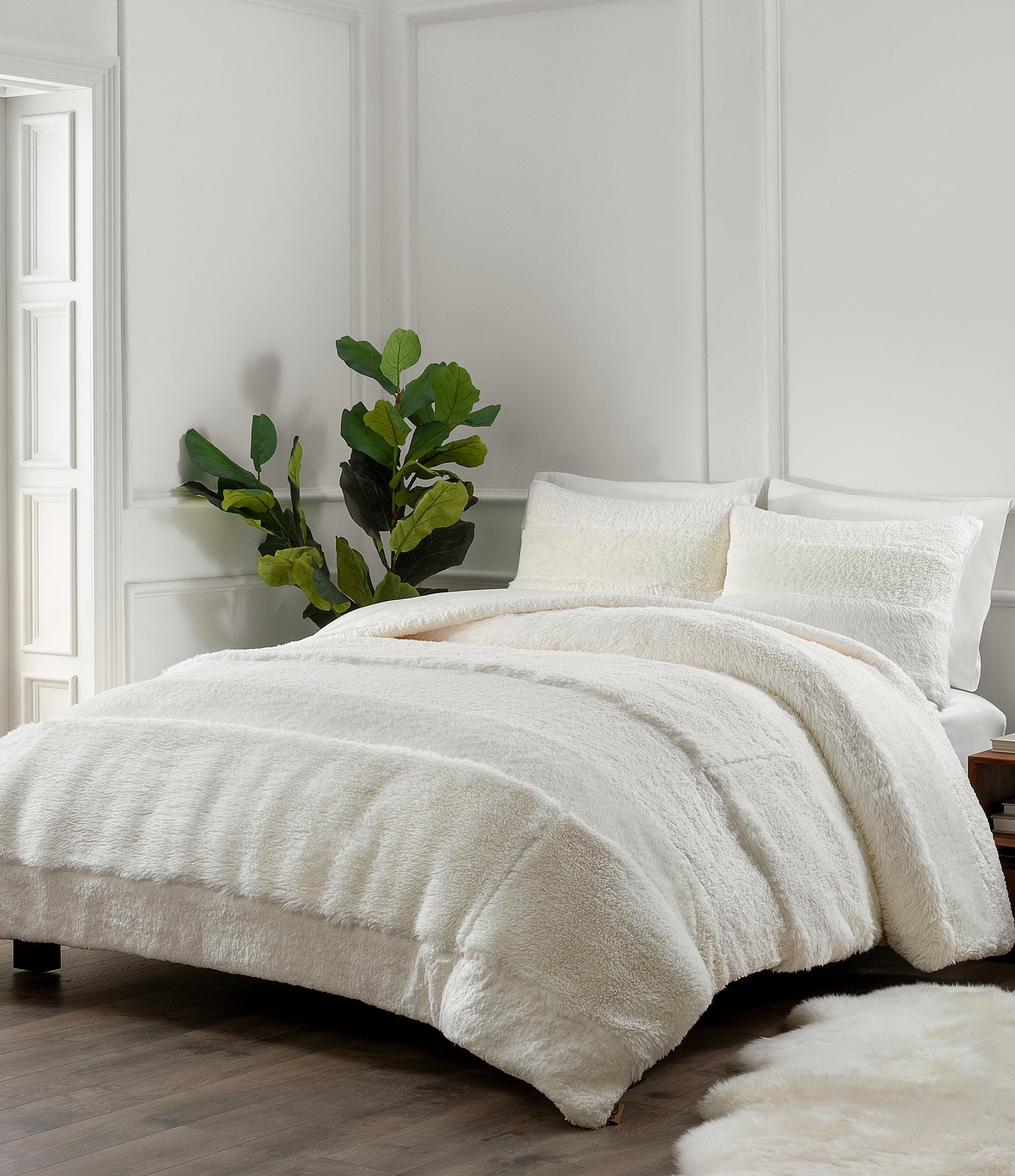 ugg lola pieced faux fur comforter mini set dillard s