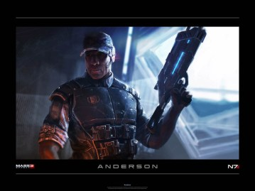 BioWare - Mass Effect 3: Anderson lithograph