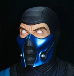 Pop Culture Shock - Mortal Kombat: Sub Zero Life Size Bust (PCS Exclusive)