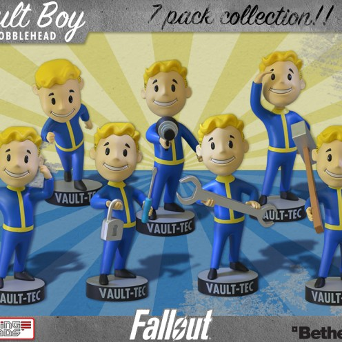 Gaming Heads - Fallout: Vault Boy Bobblehead pack