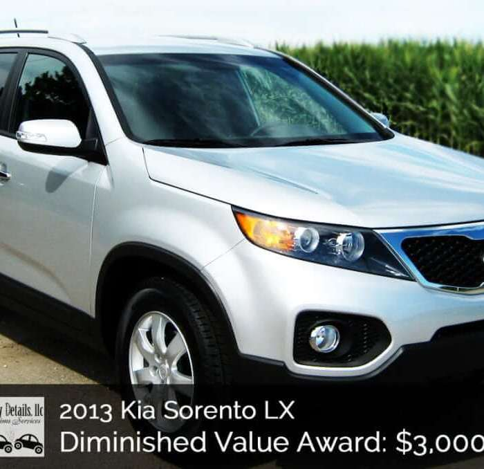 2013 Kia Sorento Diminished Value Win – $3000 Settlement!