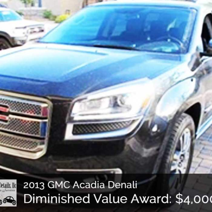 2013 GMC Acadia Denali Diminished Value – $4000 Arizona Win!