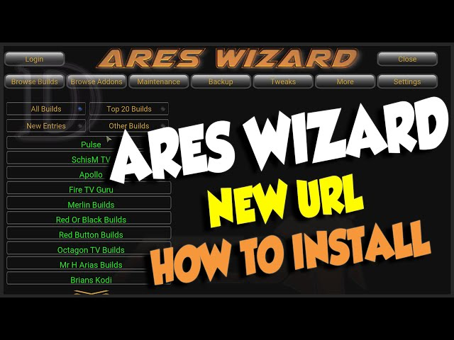 HOW TO INSTALL ARES WIZARD NEW URL & SERVER APRIL 2016