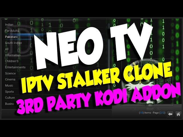 Neo TV IPTV Stalker Clone – 3rd party KODI addon – May 2016