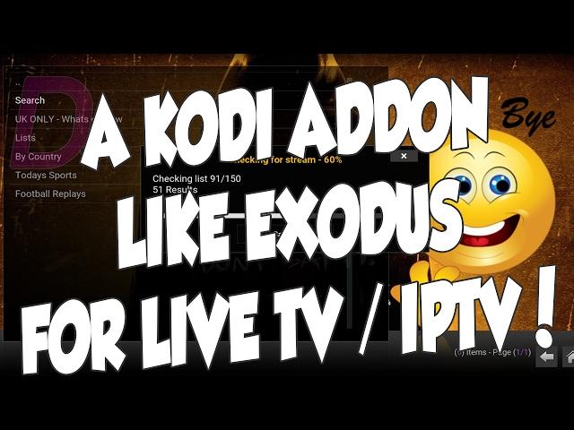 VENDETTA KODI ADDON IS EXODUS FOR LIVE TV / IPTV ON KODI!!!