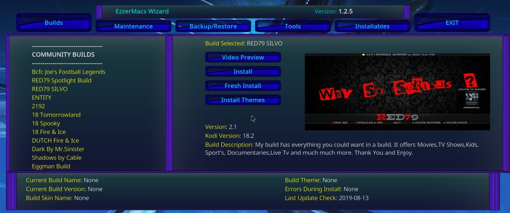RED79 KODI Build Wizard