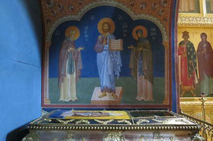 Мощи прп. Даниила Переславского в Троицком соборе