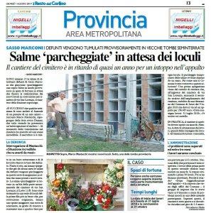 """Cimitero di San Lorenzo: mancano i loculi, salme """"in sosta"""""""