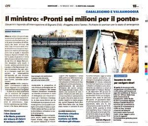 DIMMI - proposta stato di emergenza Ponte Sasso