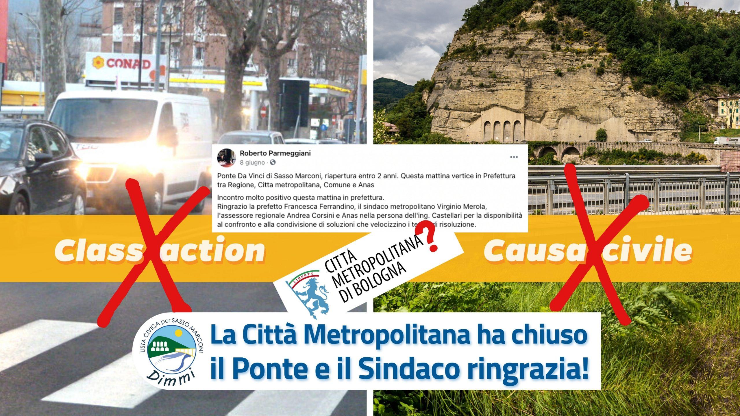 You are currently viewing La Città Metropolitana ha chiuso il ponte e il Sindaco ringrazia