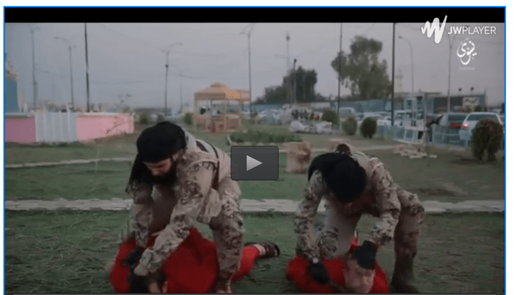 +18 Une nouvelle vidéo choquante:  deux terroristes francophones d΄ISIS  décapitent 2 otages au nord d`Irak