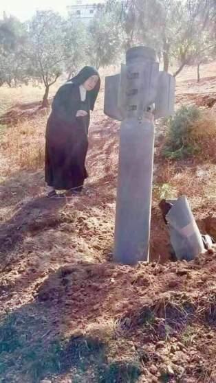 Alep: Des missiles jetés par les djihadistes sur un couvent n΄ ont pas explosé!