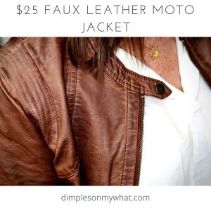 Faux Leather Moto Jacket / dimplesonmywhat.com