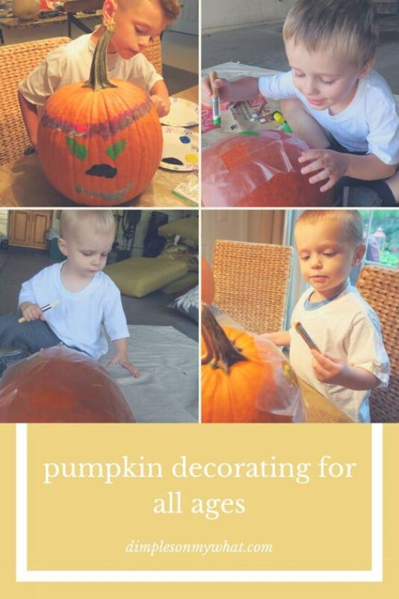 Pumpkin decorating for all ages / dimplesonmywhat.com