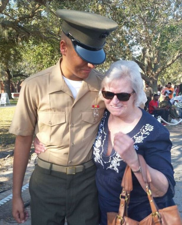 a grandmom and her marine
