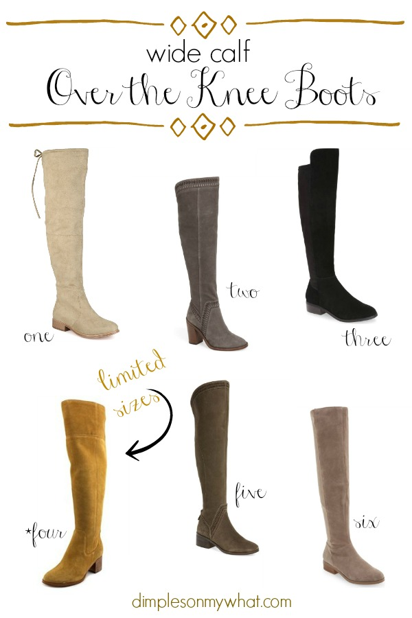 Wide Calf Over the Knee Boots | Over the Knee Boots | Fall Fashion Favorites