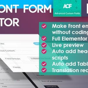 JUAL ACF Front Form for Elementor Page Builder