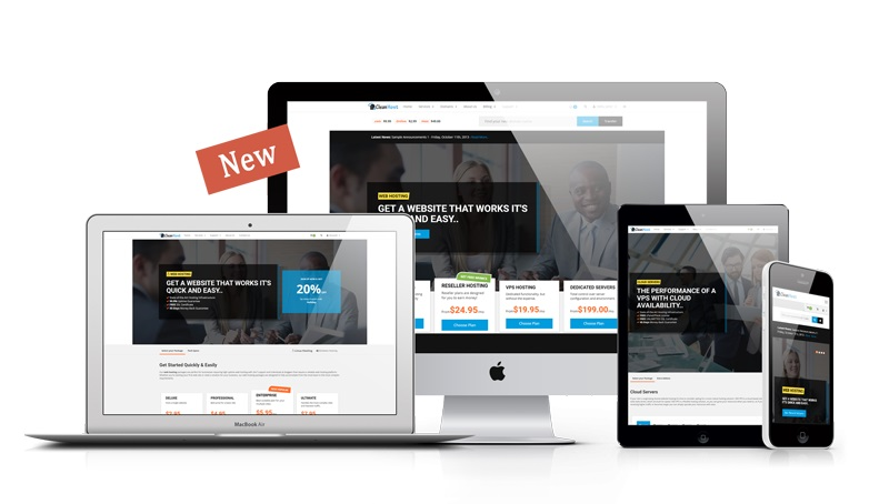 JUAL Clean - WHMCS Template
