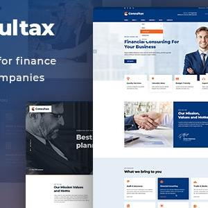 JUAL Consultax - Financial & Consulting WordPress Theme