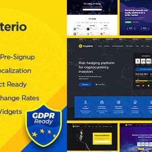 JUAL Crypterio - ICO Landing Page and Cryptocurrency WordPress Theme