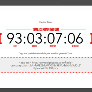 JUAL Finale Email Countdown Timer