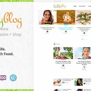JUAL Healthy Living - Blog with Online Store WordPress Theme