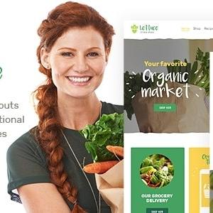 JUAL Lettuce - Organic Food & Eco Online Store Products WordPress Theme