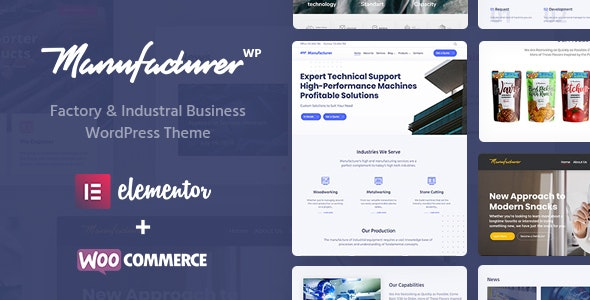 JUAL Manufacturer - Factory and Industrial WordPress Theme