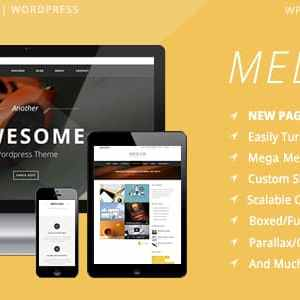 JUAL Mediso - Corporate / One-Page / Blogging WP Theme