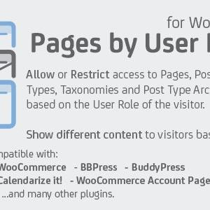 JUAL Pages by User Role for WordPress