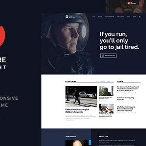 JUAL Police & Fire Department and Security Business WordPress Theme