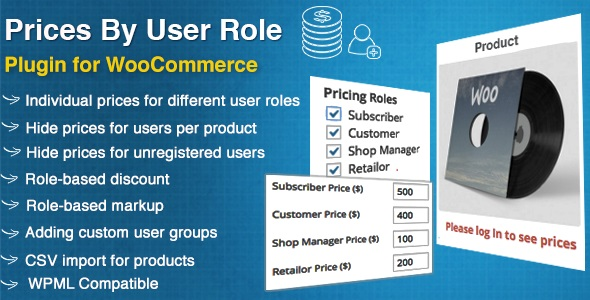 JUAL Prices By User Role for WooCommerce