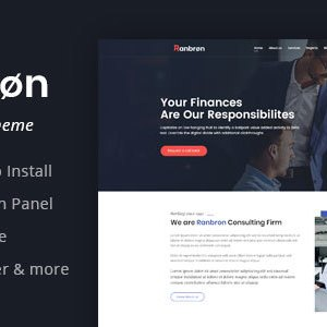 JUAL Ranbron - Business and Consulting WordPress Theme