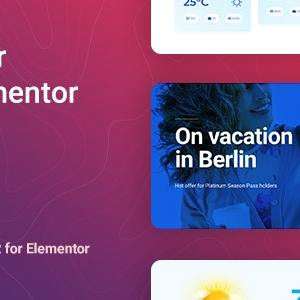 JUAL Synopter - Weather for Elementor