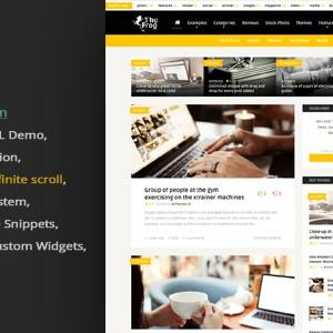 JUAL The Frog = Creative News / Blog Magazine & Front-end Submission WP Theme