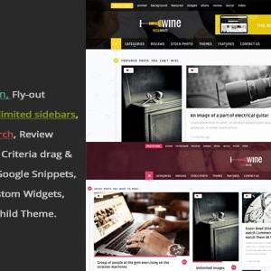 JUAL Wine Masonry - Review & Front-end Submission WordPress Theme