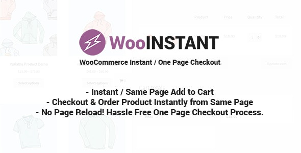 JUAL WooInstant - WooCommerce Instant / Quick / Onepage / Direct Checkout