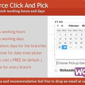 JUAL Woocommerce Click And Pick ( Local Pickup )