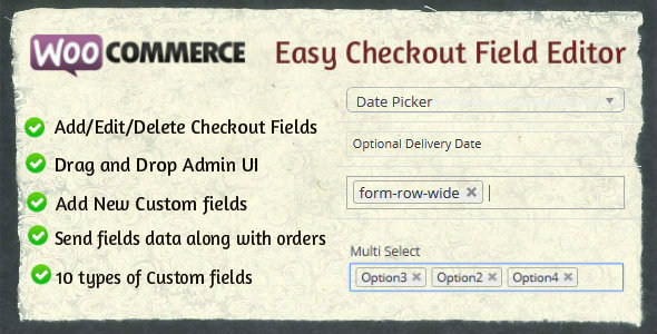 JUAL Woocommerce Easy Checkout Field Editor