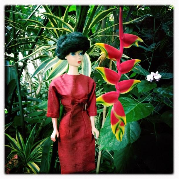 Dinahs Dolls Vintage Barbie Dress Red