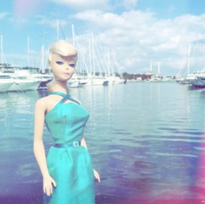 Barbie turquoise vintage style dress