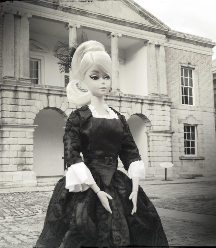 Silkstone Barbie wearing an 18th Century dress