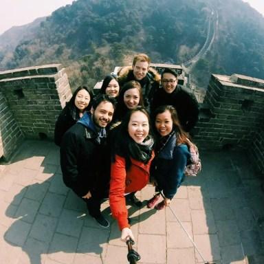 At the Great Wall of China (Photo Credits: Jenfay)