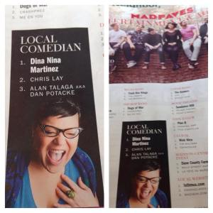 OMG!!! Thank you #Madison for voting me your Favorite Comedian!!! Thank you @isthmusmadison #soexcited