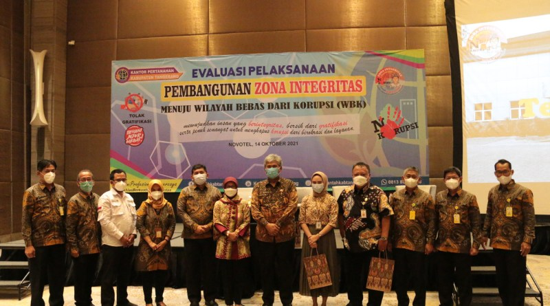 Targetkan Raih WBK, BPN Kabupaten Tangerang Evaluasi Pembangunan ZI