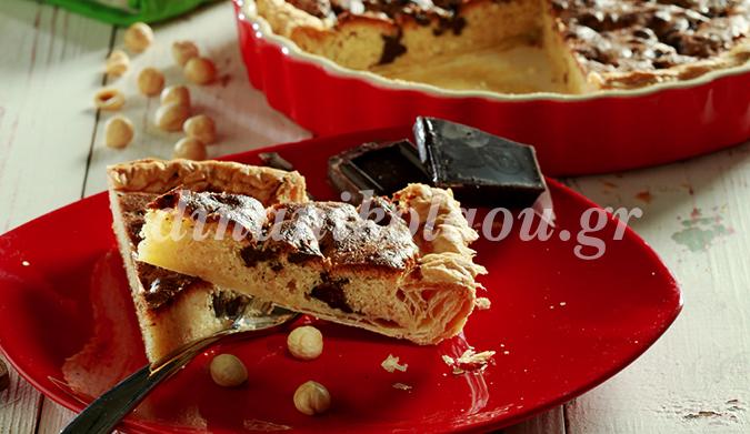 Φουντουκόπιτα με σοκολάτα