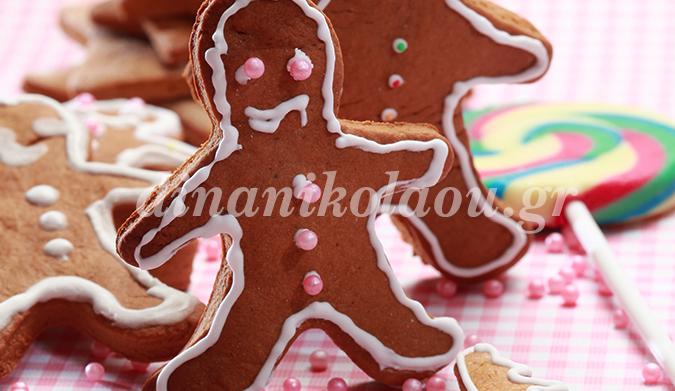 Μπισκότα Χριστουγεννιάτικα με πετιμέζι για στολίδια