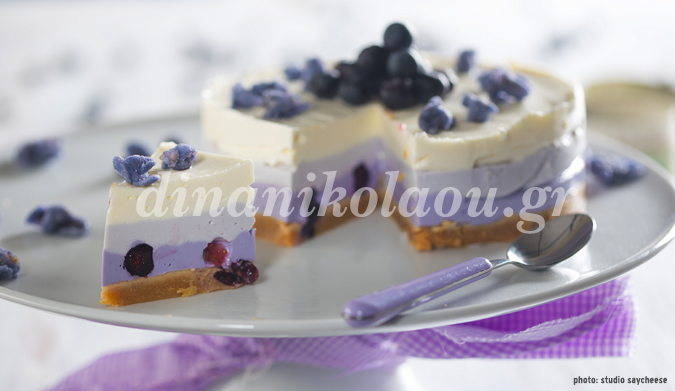 Cheesecake ανοιξιάτικο με μύρτιλα