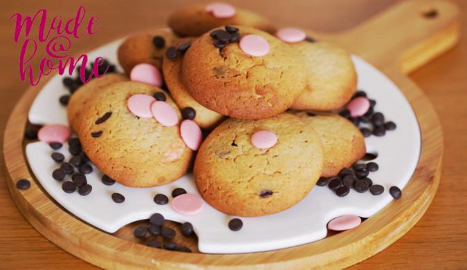 Soft cookies με δύο χρώματα σοκολάτας