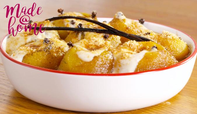 Γεμιστά μήλα με κρέμα μπισκότο